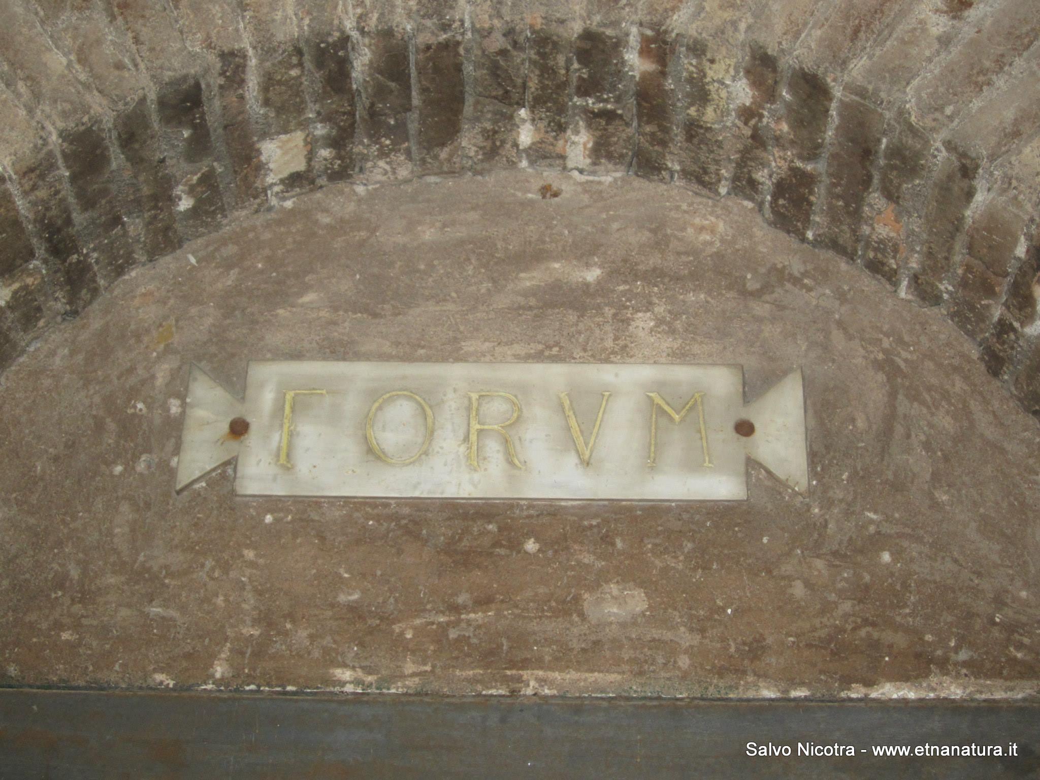 Foro romano Catania