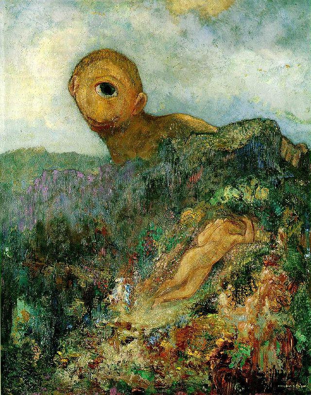 "Odilon Redon, ""Le Cyclope"", museo Kröller-Müller"