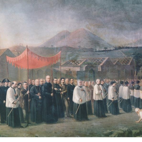 Processione col velo di sant'Agata per fermare la lava del 1886